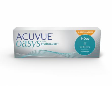 ACUVUE® OASYS 1-Day com Tecnologia HydraLuxe™ para ASTIGMATISMO