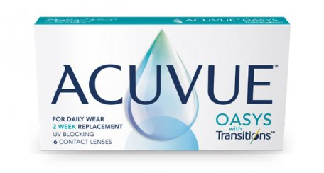 ACUVUE® OASYS com TransitionsTM Light Intelligent TechnologyTM