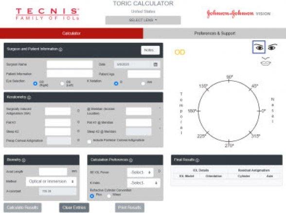 Calculadora de LIO Tórica TECNIS